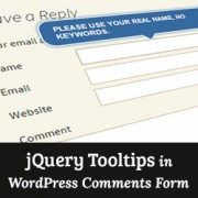 How to Add jQuery Tooltips in WordPress Comment Form