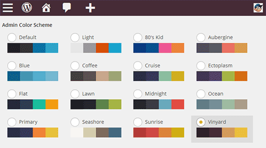 Adding more admin color scheme choices in WordPress 3.8