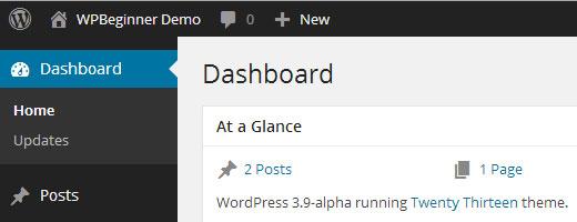 WordPress 3.8 Dark Theme