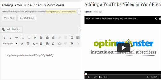Adding a YouTube Video in WordPress
