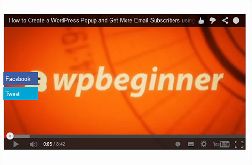 How to Add Share Buttons as Overlay on YouTube Videos in WordPress
