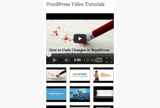 Adding your latest YouTube videos in WordPress