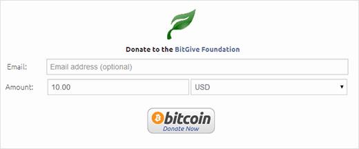 A demo of Bitcoin donate button