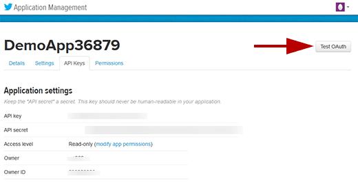 Generating Twitter Access Keys