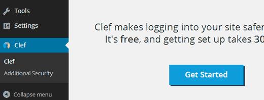 Setting up Clef in WordPress