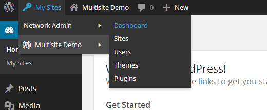 Switching to Multisite Network Admin Dashboard