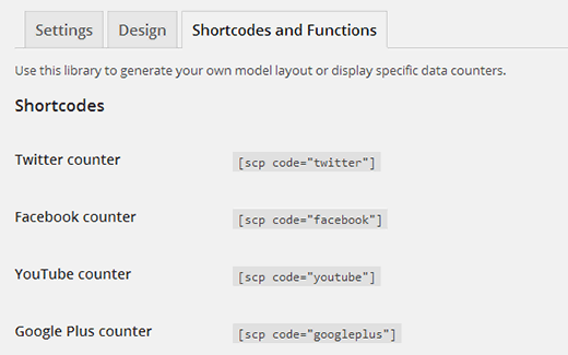 Shortcodes and Functions to Display Social Count Buttons