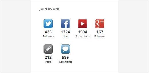 Social Follower Count Buttons