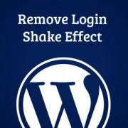 Remove Login Shake