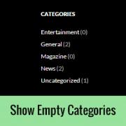 How to Show Empty Categories in WordPress Widgets