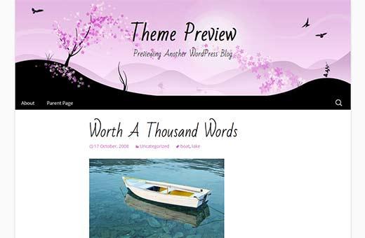 Cherry Blossom - Twenty Thirteen Child Theme