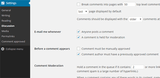 Comment author must have previously approved comment