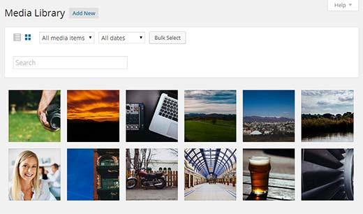 New Media Library in WordPress 4.0