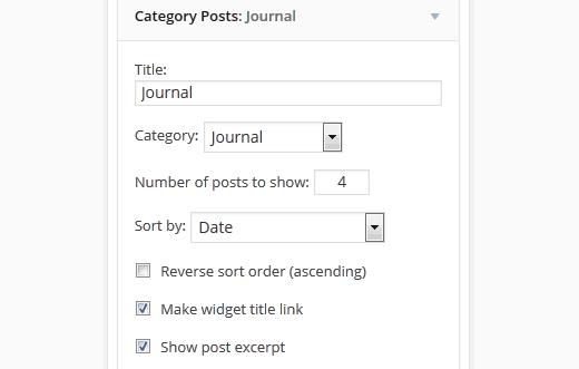 Category posts widget for WordPress