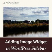 How to Add an Image in WordPress Sidebar Widget