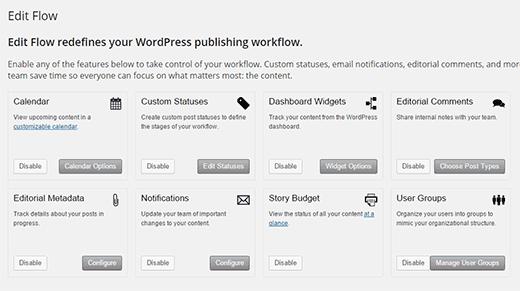 Edit Flow's editorial dashboard