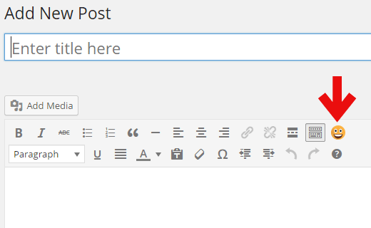 Emoji button in WordPress visual editor