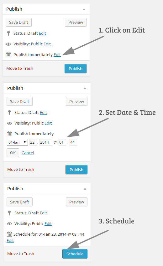 Scheduling posts in WordPress