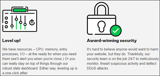 GoDaddy has secure hosting