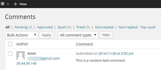 Filter unanswered comments