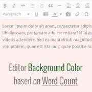 How to Change Editor Background Color by Word Count in WordPress