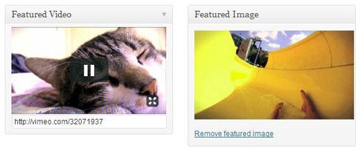 Featured Video Plus Edit Screen