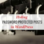 How to Hide Password Protected Posts From WordPress Loop