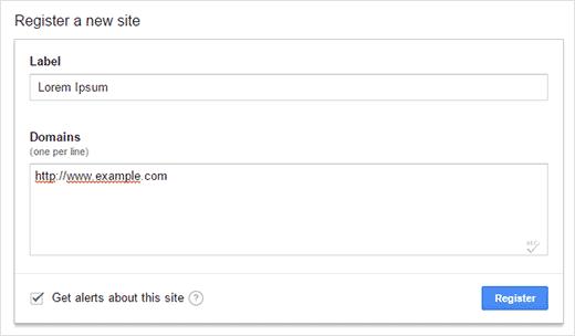 Registering for reCAPTCHA API Key
