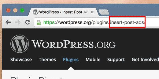 Finding plugin and theme slug in URL