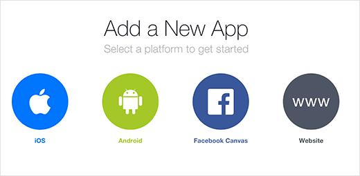 Select your app platform