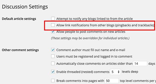 Disabling WordPress trackbacks and pingbacks