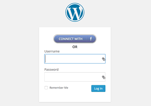 Login with Facebook button in WordPress