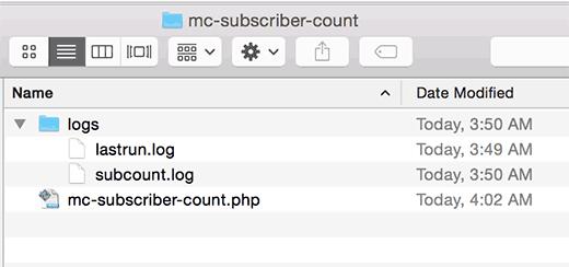 Creating log files