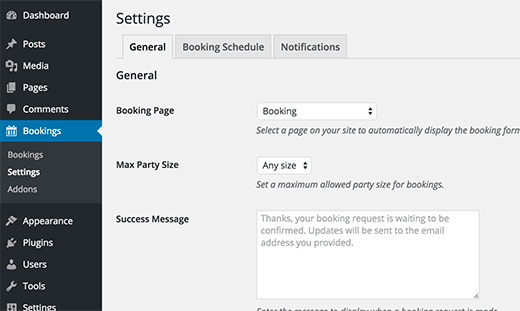 Setting up restaurant reservation and booking system