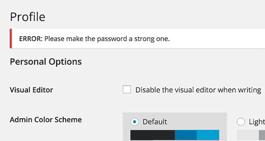 Force Strong Password