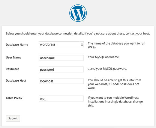 wordpress announcement sidebar