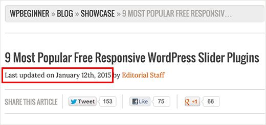 Sowing last updated date in WordPress