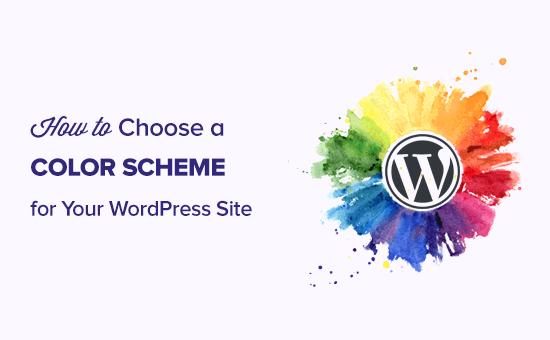 Choosing color scheme for your website