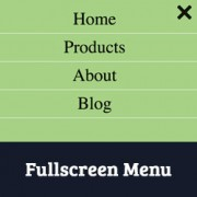 How to Add a Fullscreen Responsive Menu in WordPress
