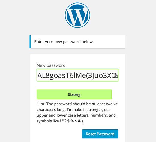 New user interface favors stronger passwords in WordPress