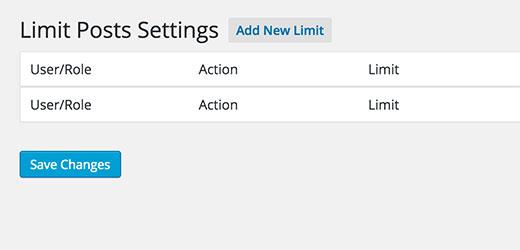 Add new limit