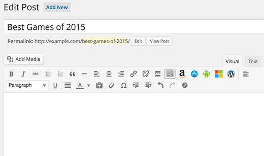 Appbox buttons in WordPress visual post editor