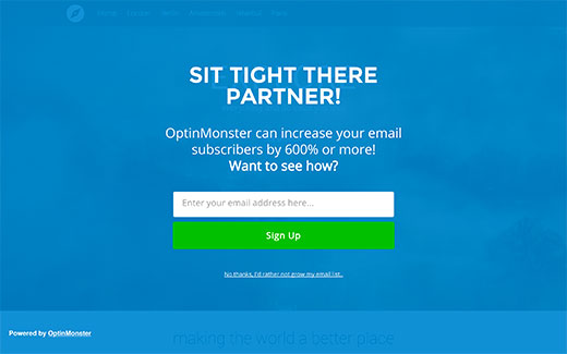 Full screen welcome gate or interstitial ad  on a WordPress site