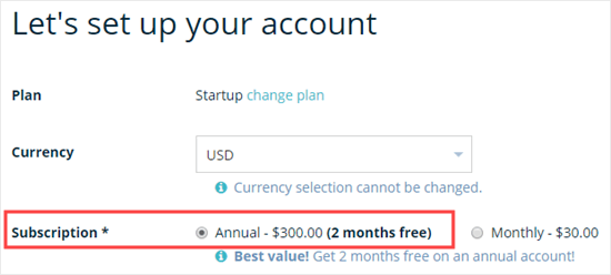 Opting for an annual plan to get the maximum WP Engine discount