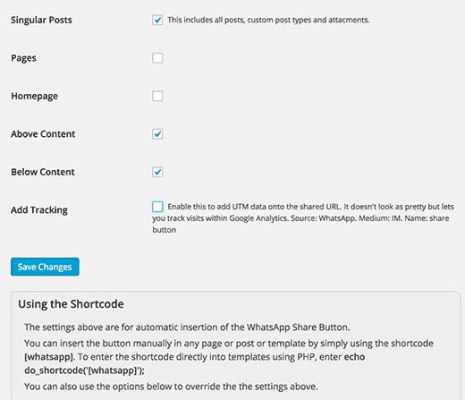 Setting up WhatsApp Share Button plugin for WordPress