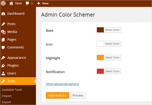 Creating your own custom admin color schemes