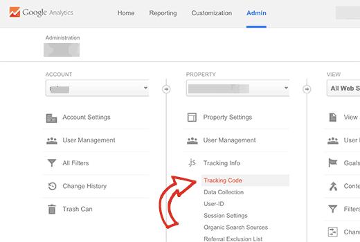 Trouvez votre identifiant de suivi Google Analytics