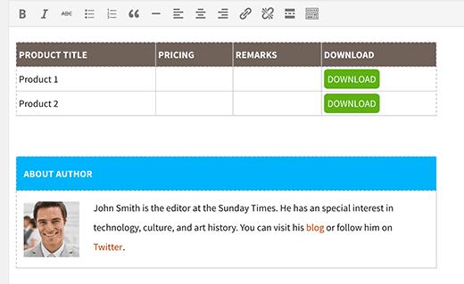 Reusable blocks in a WordPress post