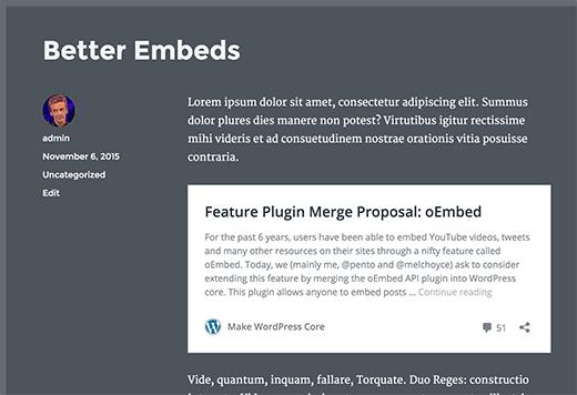 Better embeds