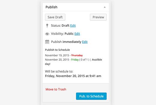 Publish meta box with Publish to Post plugin